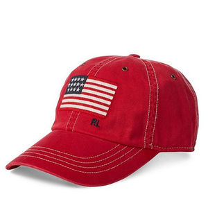 New Men's Polo Ralph Lauren Red Flag Iconic Cap